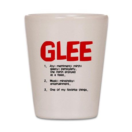 glee defined Shot Glass