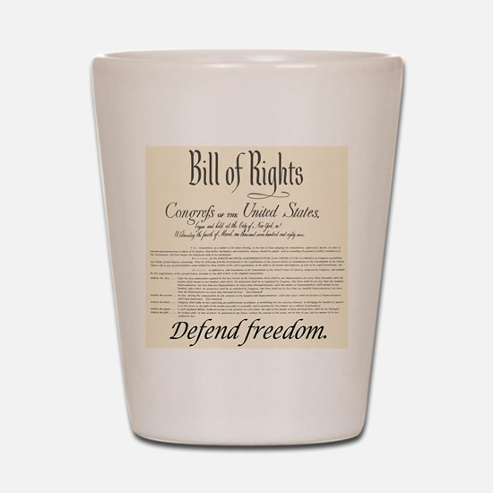 Bill of Rights Shot Glass