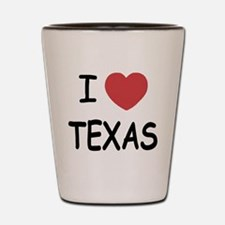 I heart Texas Shot Glass