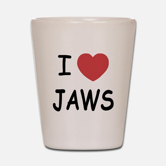 I heart jaws Shot Glass