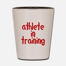 athlete in training Shot Glass