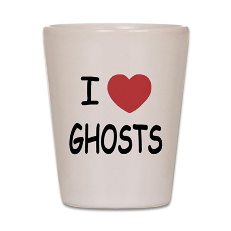 I heart ghosts Shot Glass
