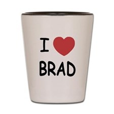 I heart Brad Shot Glass