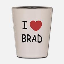 I heart Brad Shot Glass