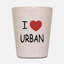 I heart urban Shot Glass