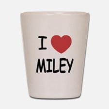 I heart miley Shot Glass