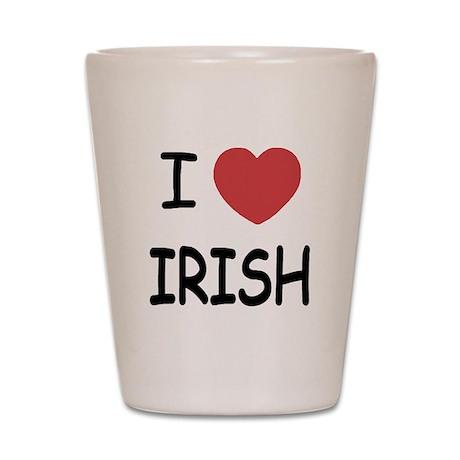 I heart irish Shot Glass
