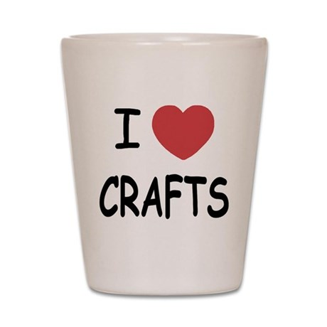 I heart crafts Shot Glass