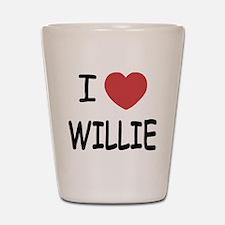 I heart Willie Shot Glass