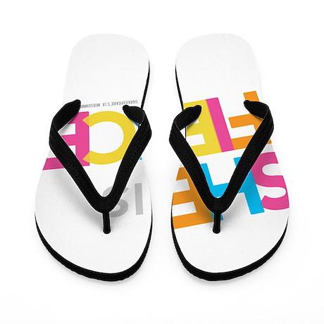 She is Fierce - Color Merge Flip Flops
