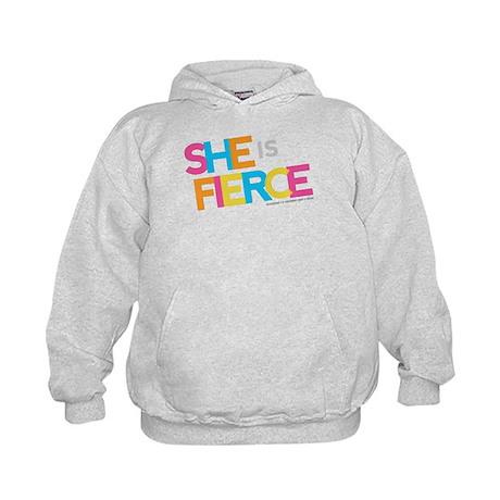 She is Fierce - Color Merge Kids Hoodie