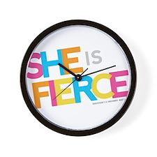 She is Fierce - Color Merge Wall Clock