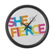 She is Fierce - Color Merge Large Wall Clock