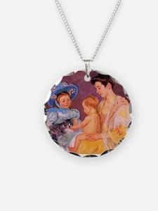 Mary Cassatt, Cat Cuddle Necklace