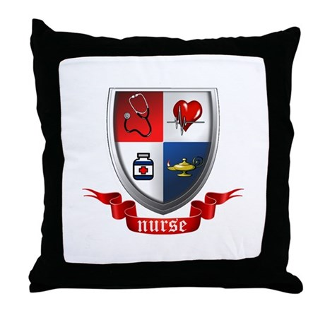 Nursing Crest Throw Pillow