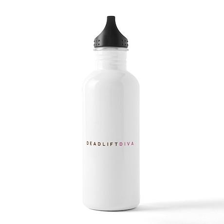 Deadlift Diva - Brown & Pink Stainless Water Bottl
