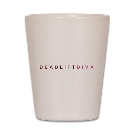 Deadlift Diva - Brown & Pink Shot Glass
