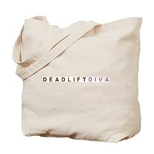 Deadlift Diva - Brown & Pink Tote Bag