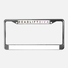Deadlift Diva - Brown & Pink License Plate Frame