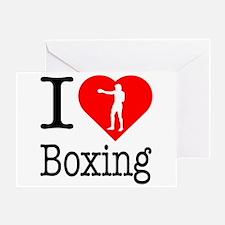 I Love Boxing Greeting Card