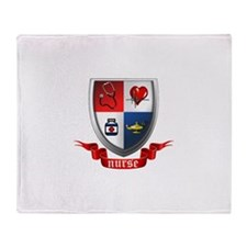 Nursing Crest Throw Blanket