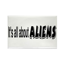 All About Aliens Rectangle Magnet