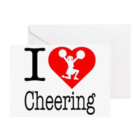 I Love Cheering Greeting Card