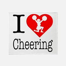 I Love Cheering Throw Blanket