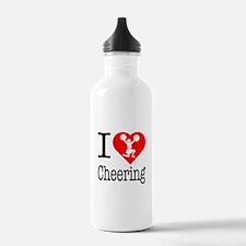 I Love Cheering Water Bottle
