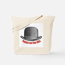 Ritz (red polka dot) Tote Bag