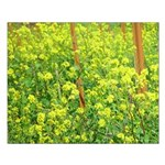 Mustard Wildflowers Small Border-less Poster
