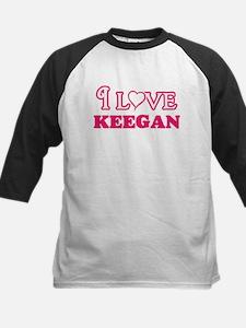 I Love Keegan Baseball Jersey