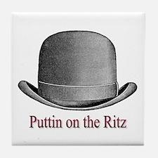 Ritz (plum) Tile Coaster