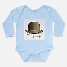 Got Swag (bronze) Long Sleeve Infant Bodysuit