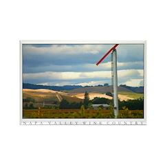 Napa Valley Rainstorm over Vineyards 100 Magnets
