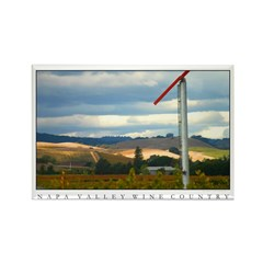 Rainstorm over Vineyards, Napa Valley. 10 Magnets