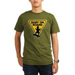 Baby On Board (Skateboard) Organic Men's T-Shirt (