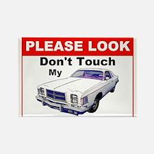 1979 Chrysler 300 Do Not Touch Sign Car Magnet