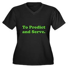 To Predict and Serve. Women's Plus Size V-Neck Dar