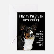 Funny Corgi Birthday Card