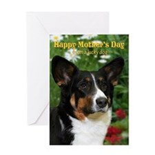 Cardigan Corgi Mother's Day Card