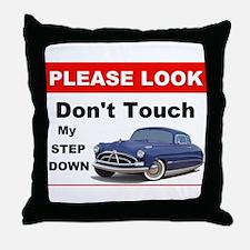 Hudson Car Do Not Touch Sign Throw Pillow