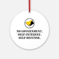 No Government Ornament (Round)