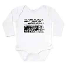 Boston Molasses Disaster Long Sleeve Infant Bodysu
