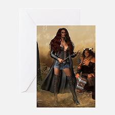 Norse Goddess Angreboda Greeting Card