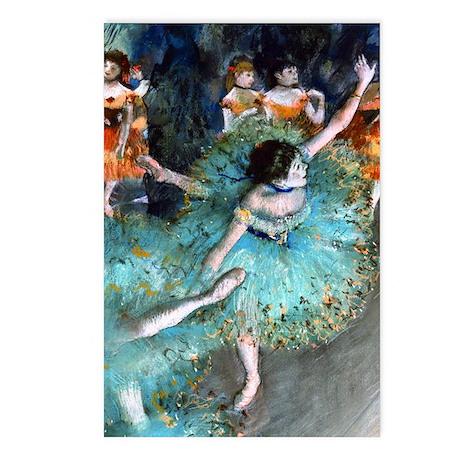 Degas - Green Dancer 1879 Postcards (Package of 8)