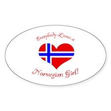 Norwegian Oval Decal