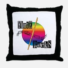 Flute Rocks Throw Pillow