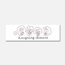 Laughing-Sisters Car Magnet 10 x 3