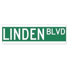 Linden Boulevard Sign Bumper Sticker
